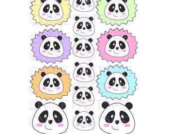 Kawaii Panda Stickers