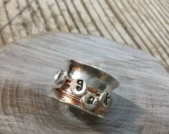 Silver + Gold Spinner Ring