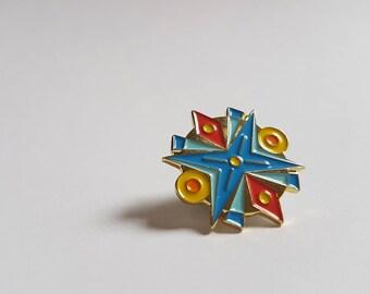 Talismandala 04 - Illustrated Enamel Pin by Toronto Artist Jen Pilles // Flair - Hat Pin - Lapel Pin - Collar Pin
