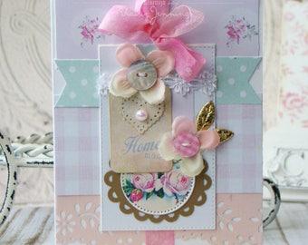 Homemade Shabby Chic Handmade Card