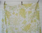 Yellow flower sheet - fitted twin
