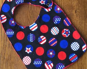 Fourth of July Circle Flags Bib Baby/Toddler Bib