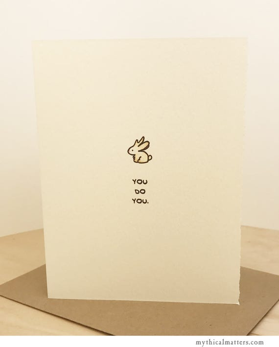 You Do You Jackalope Card Cute Wishes Nice Sweet Support Encouragement Friend Funny Adorable Animals Rabbit Made in Toronto Canada Wholesale