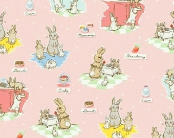 Clearance FABRIC BUNNIES and CREAM  by Riley Blake   We combine shipping