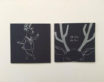 Oh Dear Mr Deer - Inktober Art Zine