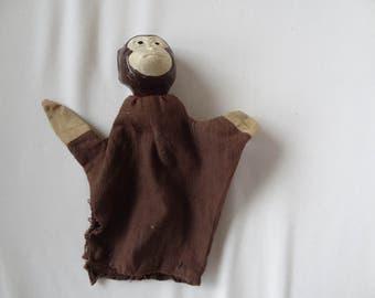 Antique Jocko Handpuppet. Monkey. Puppet