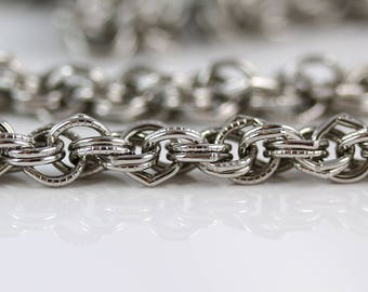 Vintage Silver Chain - 34 Inches - Vintage Chains - Silvertone