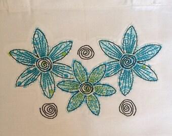 Sketchy Blue Flower - Tote Bag
