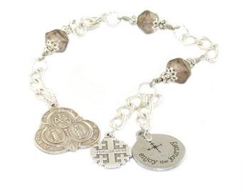 Saint Christopher Travel Prayer Beads, Handmade in New Zealand