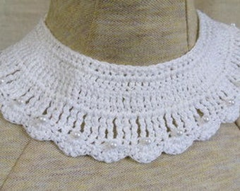 Choice of color-collar type crocheted necklaces with beads-trach stoma covers