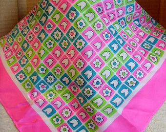 Satin look polyester bandanna scarves -  stoma covers - custom neck size closure