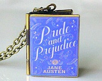 Pride and Prejudice, Jane Austen, English Lit, Book Locket Necklace, Book Jewelry, Most Loved Book, Read, High School English, Classic Novel