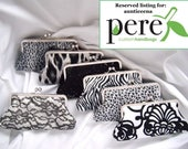 Custom Listing for AUNTIEENA - personalized wedding clutches - bride - bridesmaids - black and white - bridesmaids gifts - clutch set - wed