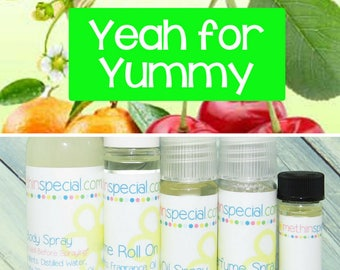 Yeah for Yummy Perfume, Perfume Spray, Body Spray, Perfume Roll On, Perfume Sample Oil, Dry Oil Spray, You Choose the Product