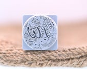 20mmx20mm Custom Signature Stamp For PMC, Art Clay , Metal Clays & Polymer Clay Artists