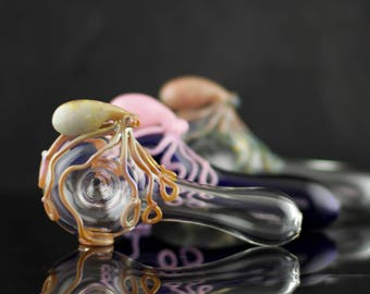 18 Octopus Spoon Pipes Wholesale / 18pc Octopus Pipes / Tobacco Pipe Glass / Heady Glass / Pyrex Pipe / Custom Glass Pipes / Made to Order