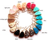 SALE * Druzy color earrings - rich color - pick your color