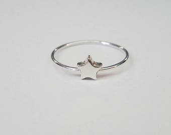 Star Ring Sterling Silver Celestial Ring