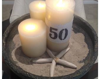Birthday candle sleeve - numbers candle sleeve - birthday candle sleeve - tablescape  - home decor