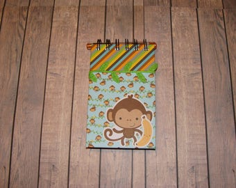 Monkey Notebook With Ribbon