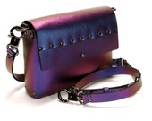 Cobalt Iridescent Crossbody Bag | Cobalt to Purple Iridescent Handbag | Vegan | Made in USA