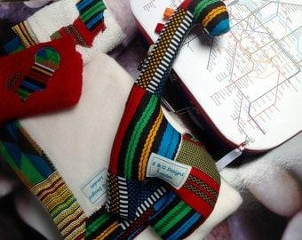 Large London Underground baby shower baptism kente African gift case