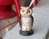 Cast Iron Miniature Owl Paperweight