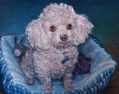 reserved, Beloved Casey, custom oil portrait painting by puci