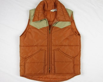 Vintage 1970s Key Imperial Western Vest, Unisex