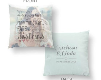 Sister Pillow, Sister Gift, Best Friend Gift, Sister Birthday Gift, Gift for Sister/ H-Q91-PW QQ5