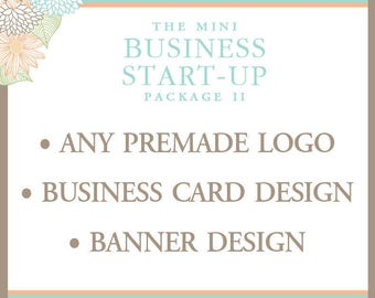 Business Package - Premade Logo - Business Card Design - Banner Design