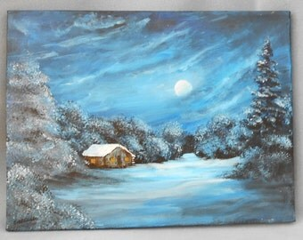 Touch of Winter Mountain Study Original Painting