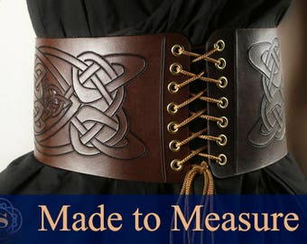 Waist cinch, celtic belt, celtic corset belt, underbust corset, pirate belt, wench belt, viking belt, waist belt, larp belt, viking corset