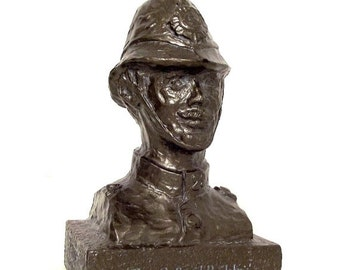 1977 Police Oxford Bobby Statue Bristol Labs Pharmaceutical Advertising Display Tegopen