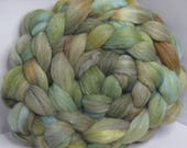 Polwarth/Rambouillet/Bombyx/Angeline 25/25/25/25 Roving Combed Top - 5oz - Lichen 2