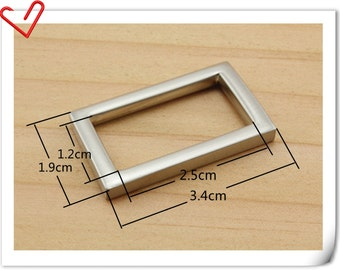 1 inch Purse bag strap rectangle connector ring lanyard buckle hardware Polish Nickel 10pcs  U142