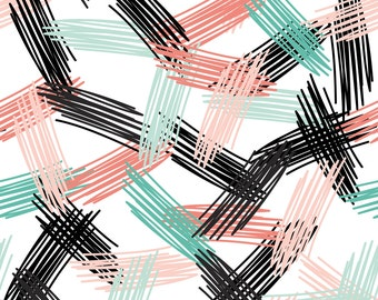 Abstract Strokes Fabric - Scandinavian Trendy Hipster Nursery Design Abstract By Ekaterinap - Cotton Fabric by the Yard with Spoonflower