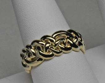 Celtic Eternity Knot Band in 14K Gold Size 9 3/4
