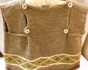 Baby Sweater/Dress/Newborn-12 months/Hand Knit/Knit Baby Sweater/Hand Made Wool Baby Sweater/Hand Knit Newborn/Hand knit Debby Ware/Knit