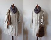 Vintage beige poplin coat, 100%cotton duster, German worksmanship coat, classic trench coat, spring summer duster coat, beige poplin jacket
