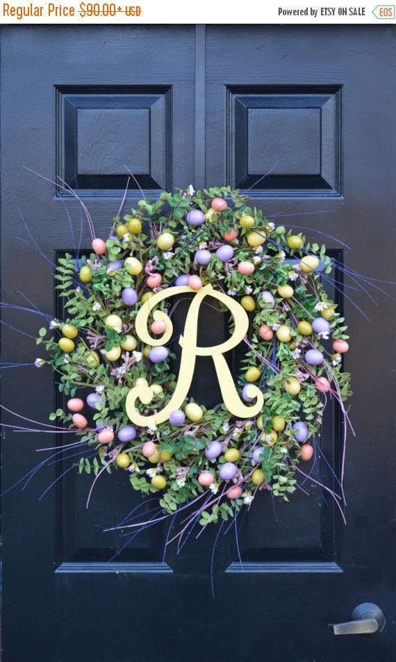 SPRING WREATH SALE Easter Wreath- Spring Door Wreath- Spring Wreath- Easter Egg Decor- Easter Decoration- Easter Decor- Spring Decor- Easter