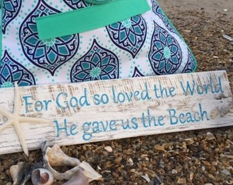 God so loved original exclusive Beach House Dreams™ sign interior design cottage coastal gift John 3 16 housewarming BeachHouseDreamsHomeOBX