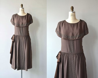 Gertie silk dress | antique 1920s dress | silk 20s dress