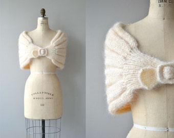 Chabrier mohair wrap | 1950s knit wrap | 50s mohair stole