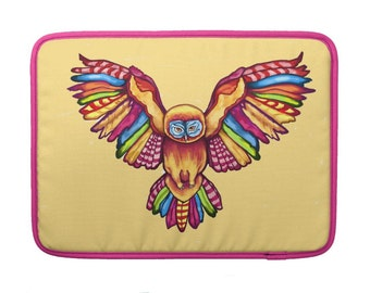 "Psychedelic Owl MacBook Pro 15"" Sleeve"