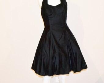 Vintage Black Velvet Dress Vixen / Princess / Crinoline