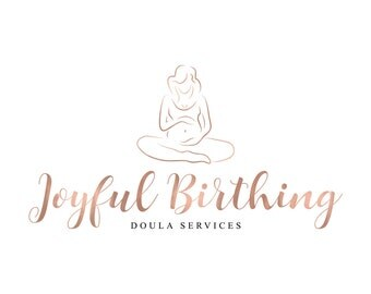 Rose Gold Logo Doula Logo Midwife Logo Newborn Photography Logo Birth Services Logo Motherhood Blog Logo Placenta Logo Birth Logo Design
