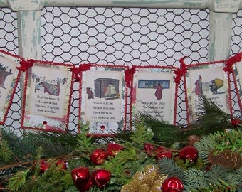 Christmas Banner New 2016 Twas The Night Before Christmas Banner Vintage Style Garland