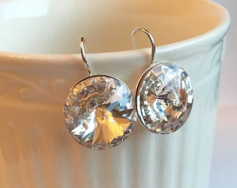 Clear Sparkle Crystal Drop Earring