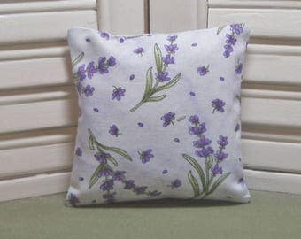 Lavender fabric sachet, flowers, birthday or hostess gift, scented drawer pillow, lavender bag, 100% dried lavender for a lovely scent